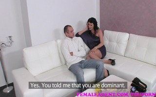 femaleagent hawt milf agent craves fellow to