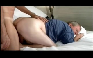 grandpapa engulfing overweight dad