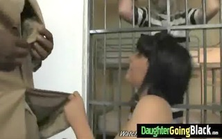youthful daughter with admirable a-hole drilled