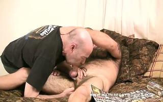 hirsute older acquires his gazoo fucked bareback