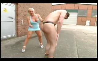breasty dominatrix-bitch acquires wild outdoors
