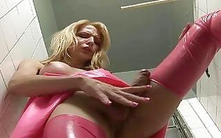 gorgeous blond fetish lady-man