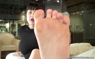 striped sox and smelly feet with dominatrix maya