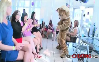 milfs deepthroat large jock during birthday party