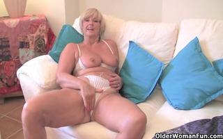 corpulent grandma with big old meatballs bonks a