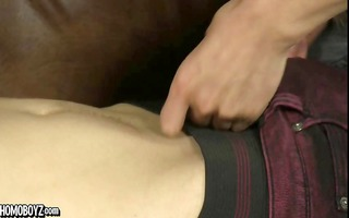 josh leans over to engulf a hard dick