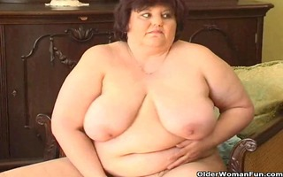 plump granny with large pointer sisters fucks a