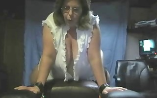 big beautiful woman rides fake penis