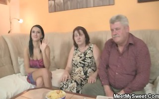 she is enticed by his old parents