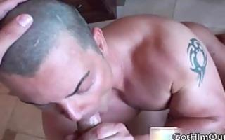 jake fucking and engulfing plump homosexual dick