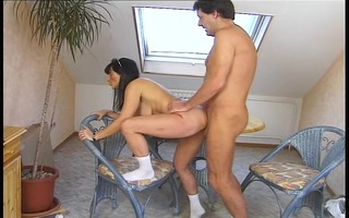 pair make love doggy style