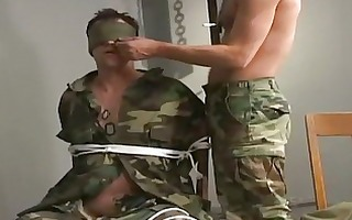 military homo dude got dong tortured