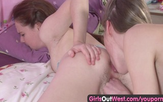 shaggy aussie lesbo licked and fingered