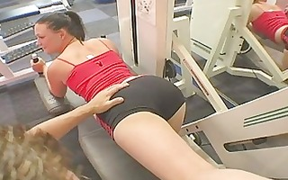 babe taking it is doggy style in the gym