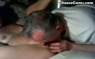 grandpapa giving grandma oral pleasure