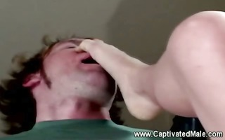female-dominator flogs her sub out of compassion