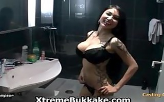 oriental babe with large mounds and tattoos part9