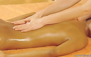 raunchy energy interracial lesbo massage
