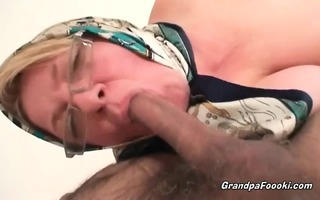bulky older blond loves hardcore sex