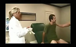 cook jerking from his male doctor