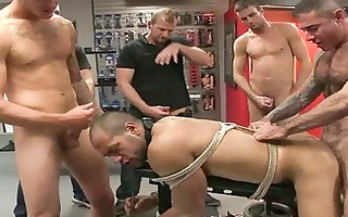 gay hunk receives bound up and screwed