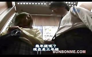 japanese schoolgirl gives corpulent boy a great