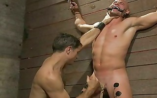 horny gay fellow got his pounder roped and blown