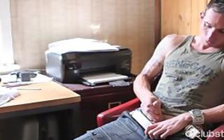 tattooed str boy chase masturbating