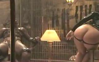 dominatrix squirts all over dark villein