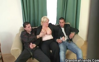 some orgy with granny