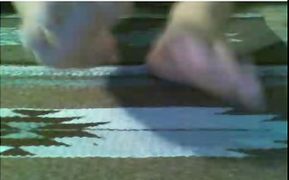 str chaps feet on web camera #171