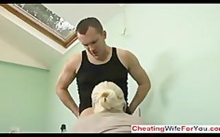 lustful blonde whore drilled hard