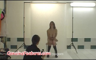 backstage enjoyment with golden-haired czech chick