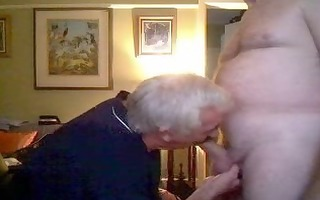 dad giving head