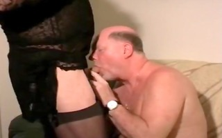 old stud with crossdresser. dad swallow void