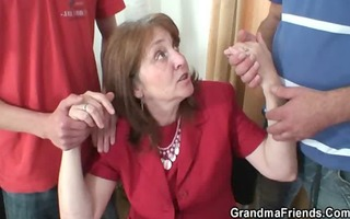 daddy and son gangbang old floozy