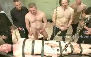 gay males in darksome suits gathering for an
