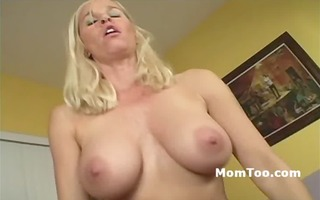 breasty golden-haired mamma and concupiscent