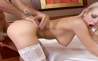babe with stockings being drilled hardcore
