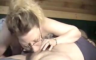 wang loving wife gives amazing deep face gap blow