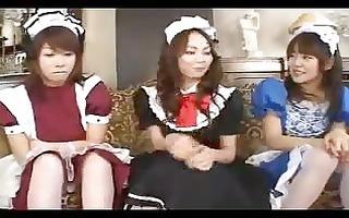 hawt oriental maid strumpets toying their moist
