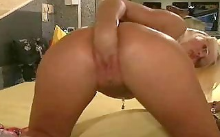 hawt blond is a fisting and fetish loving freak