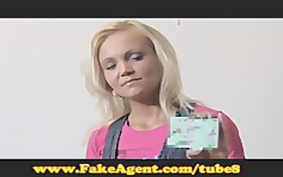 fakeagent aged blond does anal in casting