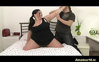 pliant obese gymnast honey acquires screwed hard