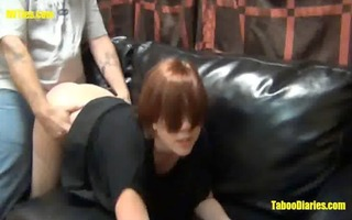 tipsy daughter nailed in stockings pv