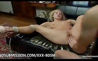 servitude blonde babe gives fucking and anal sex