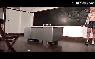 schoolgirl on detention engulfing pounder spanked