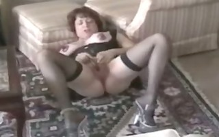 66 year old granny and her vagina pump