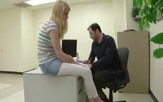 dad and daughter drilled at the office