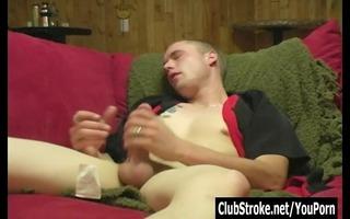 blond str tj masturbating his big jock